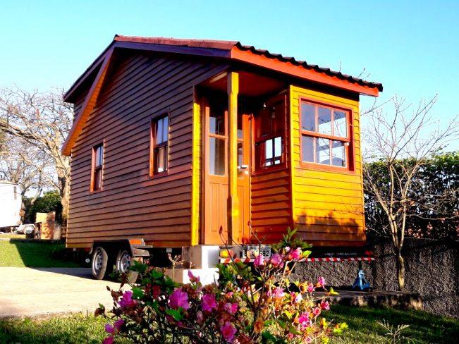 tiny house chalé sobre rodas brasileira