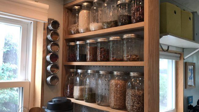 potes de vidro mantimentos cozinha
