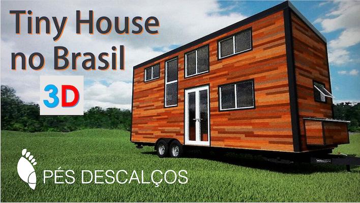 projeto 3D tiny house mini casa