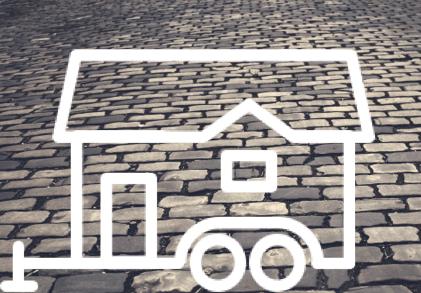 desenho de tiny house mini casa sobre rodas na estrada