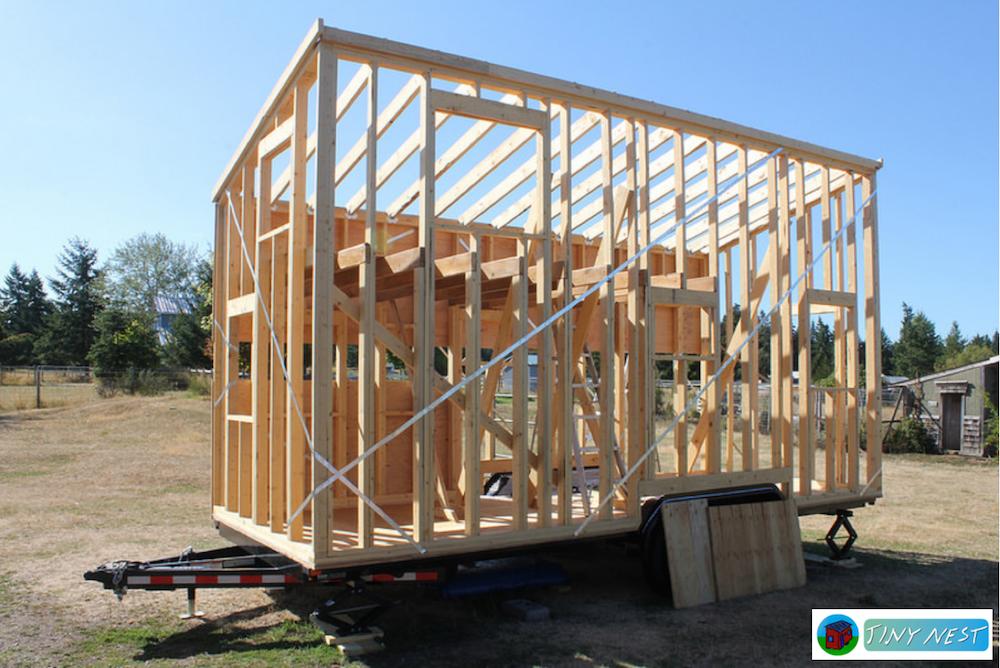 tiny house sendo construida