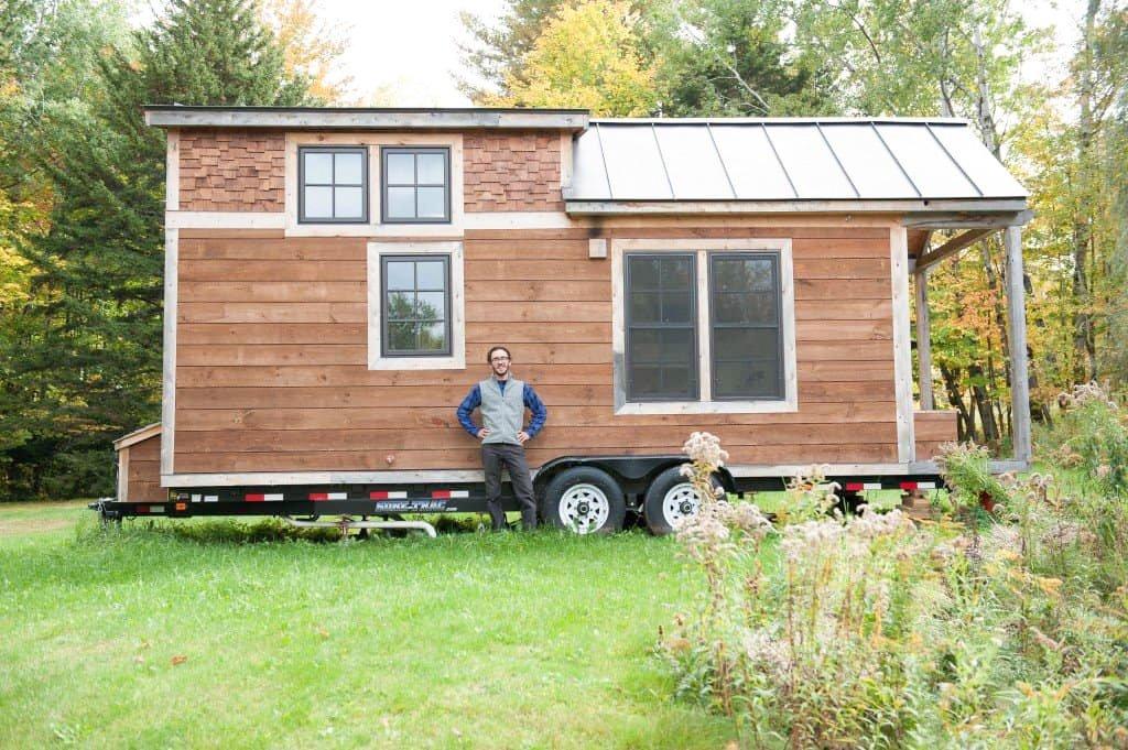 construção mini casa sobre rodas